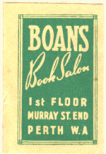 Boans Book Salon [department store], Perth, Australia (15mm x 35mm). Courtesy of Siobhan McCormack.