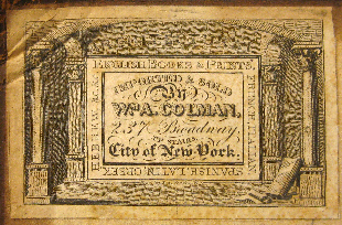 William A. Colman, New York, New York (50mm x 32.5mm, c.1829). Courtesy of John Lancaster.