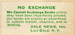 Dale News, Lily Dale, New York.  Courtesy of Michael Floreani.