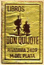 Libros Don Quijote, Mar del Plata, Argentina (25mm x 33mm, c.1980). Courtesy of Mario Martin.