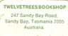 Twelvetrees Bookshop, Sandy Bay, Tasmania, Australia (16mm x 9mm). Courtesy of Dennis Muscovich.