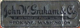 John W. Graham & Co., Spokane, Washington (46mm x 16mm). Courtesy of Steve Trussel.