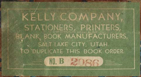 Kelly Company, Salt Lake City, Utah (82mm x 44mm, c.1962). Courtesy of Robert Behra.