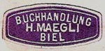 H. Maegli, Biel, Switzerland (24mm x 12mm, ca.1925). Courtesy of Michael Kunze.