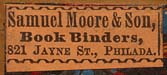 Samuel Moore & Son, Philadelphia, Pennsylvania (26mm x 11mm, c.1851). Courtesy of Suzzallo & Allen Libraries, University of Washington.