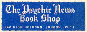 The Psychic News Book Shop, London, England.  Courtesy of Michael Floreani.
