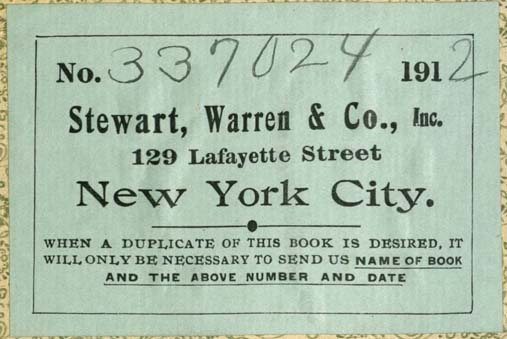 Stewart, Warren & Co., New York, NY (86mm x 57mm, c.1912). Courtesy of Robert Behra.