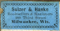 Sulzer & Hanke, Milwaukee, Wisconsin (34mm x 17mm). Courtesy of Robert Behra.