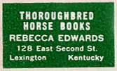 Thoroughbred Horse Books, Lexington, Kentucky.  Courtesy of Michael Floreani.