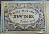 B. Westerman & Co., New York, NY (27mm x 19mm, c.1840s). Courtesy of Shawn Ezell.