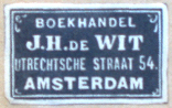 J.H. de Wit, Amsterdam, Netherlands (25mm x 15mm, c.1926). Courtesy of Robert G. Hill.