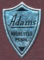 Adams, Rochester, Minnesota (13mm x 20mm). Courtesy of Donald Francis.
