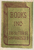 Books Inc, San Francisco, California (18mm x 25mm, c.1922).