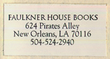 Faulkner House Books, New Orleans, Louisiana (25mm x 12mm, c.2000).