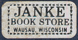 Janke Book Store, Wausau, Wisconsin (26mm x 13mm, c.1975). Courtesy of Third Place Books.