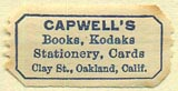 Capwell's, Oakland, California (25mm x 13mm). Courtesy of Donald Francis.
