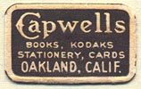 Capwell's, Oakland, California (25mm x 15mm). Courtesy of Donald Francis.