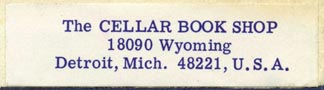 The Cellar Book Shop, Detroit, Michigan (54mm x 15mm). Courtesy of R. Behra.