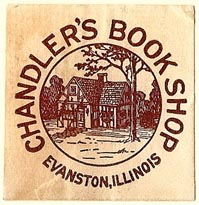 Chandler's Book Shop, Evanston, Illinois (32mm x 32mm). Courtesy of S. Loreck.