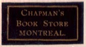 Chapman's Book Store, Montreal, Canada (27mm x 13mm, ca. 1906). Courtesy of Brian Busby.