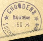 Editions Choudens [music publishers], Paris, France (inkstamp, 23mm dia.)