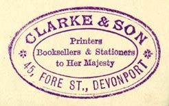 Clarke & Son, Printers, Booksellers & Stationers