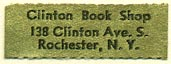 Clinton Book Shop, Rochester, NY (27mm x 9mm)