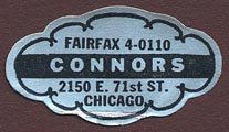 Connors, Chicago, Illinois (33mm x 19mm)