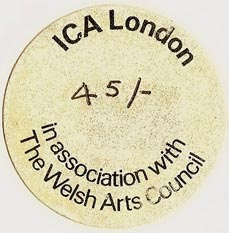 ICA [Institute for Contemporary Arts], London, England (37mm dia.). Courtesy of S. Loreck.
