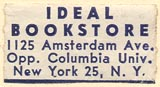 Ideal Bookstore, New York, NY (26mm x 13mm, ca.1943).