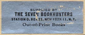 Seven Bookhunters, New York, New York (45mm x 18mm, ca.1950).