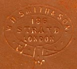 W.H. Smith & Son, London (blindstamp, 24mm x 21mm, ca.1870s). Courtesy of Robert Behra.