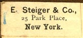 E. Steiger & Co, New York, NY (27mm x 12mm). Courtesy of Robert Behra.