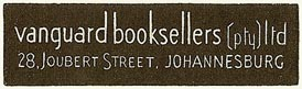 Vanguard Booksellers, Johannesburg, South Africa (45mm x 13mm). Courtesy of S. Loreck.