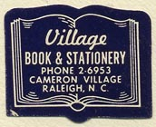 Village Book & Stationery, Raleigh, North Carolina (28mm x 22mm). Courtesy of Sarah Faragher.