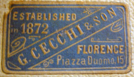 G. Cecchi & Son, Florence, Italy (30mm x 17mm). Courtesy of Jim James.